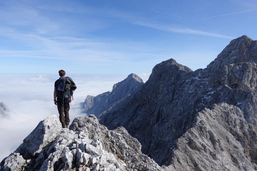 Bergsteigen in den Alpen